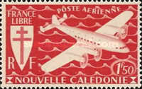 [Airmail - Free France, type AQ1]