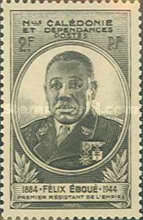 [The 1st Anniversary of the Death of Felix Eboue, 1885-1944, Typ AT]