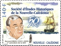 [The 50th Anniversary of the Society of Historical Studies of New Caledonia, Typ BCK]