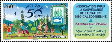 [The 50th Anniversary of the Neo-Caledonian Association for the Safeguarding of Nature, type BCV]