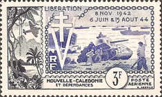 [Airmail - The 10th Anniversary of Landing of Allied Forces in Normandy, Typ BR]
