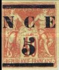 [French Colonies, General Issues Postage Stamps Surcharged -