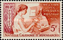 [The 100th Anniversary of Postal Service in New Caledonia, type CG]