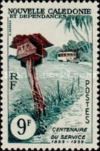 [The 100th Anniversary of Postal Service in New Caledonia, Typ CH]