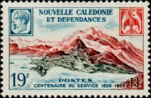 [The 100th Anniversary of Postal Service in New Caledonia, Typ CK]