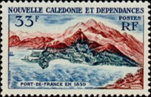 [The 100th Anniversary of Postal Service in New Caledonia, type CL]