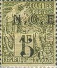[French Colonies, General Issues Postage Stamp Surcharged, Typ D]
