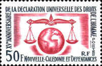 [The 15th Anniversary of Declaration of Human Rights, type DC]