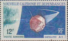 [Airmail - Launching of 1st French Satellite, type EC]