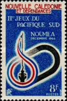 [The 2nd South Pacific Games, Noumea, Typ ED]