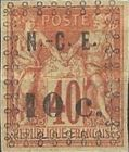 [French Coloniues, General Issues Postage Stamps Surcharged, Typ F]