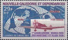 [Airmail - Day of the Stamp - The 30th Anniversary of 1st Noumea-Paris Flight by Martinet and Klein, Typ FV]