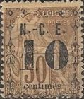 [French Colonies, General Issues Postage Stamp Surcharged, Typ G]