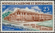 [Airmail - New Central Post Office, Noumea, type ID]