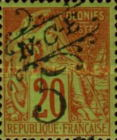 [French Colonies, General Issues Postage Stamp Surcharged, Typ J]