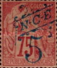 [French Colonies, General Issues Postage Stamp Surcharged, Typ J1]