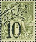 [French Colonies, General Issues Postage Stamp Surcharged, Typ J3]
