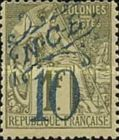 [French Colonies, General Issues Postage Stamp Surcharged, Typ J4]