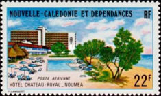 [Airmail - Inauguration of Hotel Chateau Royal, Noumea, Typ JL]