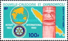 [Airmail- The 75th Anniversary of Rotary International, type MR]