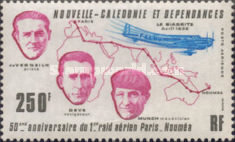 [Airmail - The 50th Anniversary of First Flight from Paris to Noumea, type OH]