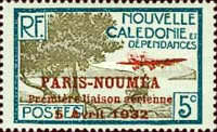[Airmail - The 1st Anniversary of Paris-Noumea Flight, type S11]