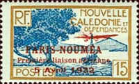 [Airmail - The 1st Anniversary of Paris-Noumea Flight, type S13]