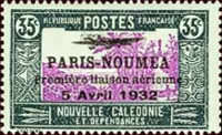 [Airmail - The 1st Anniversary of Paris-Noumea Flight, type T15]