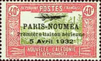 [Airmail - The 1st Anniversary of Paris-Noumea Flight, type T16]