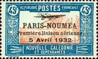 [Airmail - The 1st Anniversary of Paris-Noumea Flight, type T17]
