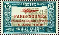 [Airmail - The 1st Anniversary of Paris-Noumea Flight, type T20]