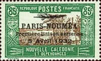 [Airmail - The 1st Anniversary of Paris-Noumea Flight, type T21]