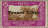 """[Free France - Previous Issues Overprinted """"France Libre"""", type T30]"""