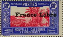 """[Free France - Previous Issues Overprinted """"France Libre"""", type T32]"""