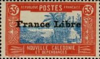 """[Free France - Previous Issues Overprinted """"France Libre"""", type T33]"""