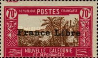 """[Free France - Previous Issues Overprinted """"France Libre"""", type T34]"""