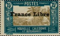 """[Free France - Previous Issues Overprinted """"France Libre"""", type T35]"""