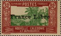 """[Free France - Previous Issues Overprinted """"France Libre"""", type T36]"""