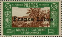 [Free France - Previous Issues Overprinted