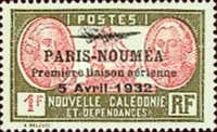 [Airmail - The 1st Anniversary of Paris-Noumea Flight, type U12]