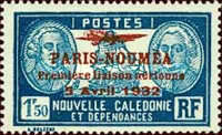 [Airmail - The 1st Anniversary of Paris-Noumea Flight, type U14]
