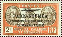 [Airmail - The 1st Anniversary of Paris-Noumea Flight, type U16]