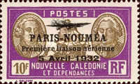 [Airmail - The 1st Anniversary of Paris-Noumea Flight, type U19]