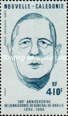 [Airmail - The 100th Anniversary of the Birth of Charles de Gaulle, 1890-1970, Typ VK]
