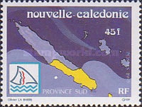 [The Three Provinces of New Caledonia, type VT]