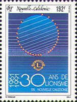 [The 30th Anniversary of Lions International in New Caledonia, type WD]