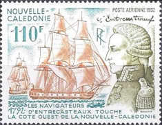[Airmail - The 200th Anniversary of Landing of Admiral Bruni d'Entrecasteaux on West Coast of New Caledonia, Typ XG]