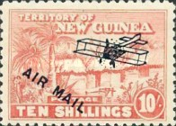 "[Airmail - No. 1-13 Overprinted ""AIRMAIL"" and Plane, type B11]"