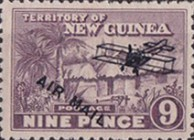 "[Airmail - No. 1-13 Overprinted ""AIRMAIL"" and Plane, type B7]"