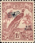 "[Airmail - No. 54-69 Overprinted ""AIRMAIL"" and Plane, type F2]"